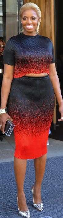 NeNe Leakes in Alexander Wang at the 2015 NBCUniversal Cable Entertainment Upfront