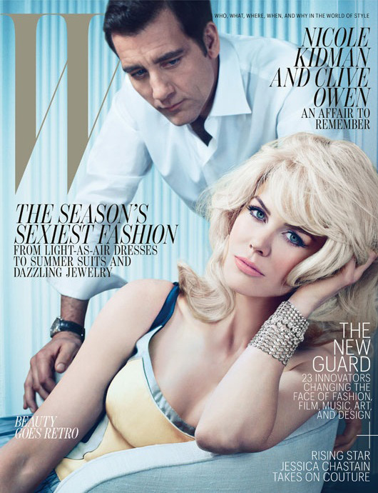 W May 2012 - Nicole Kidman & Clive Owen by Emma Summerton