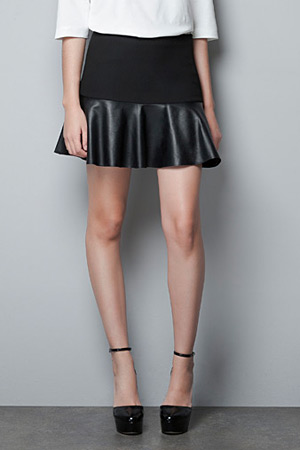 forum buys - Zara lambskin skirt