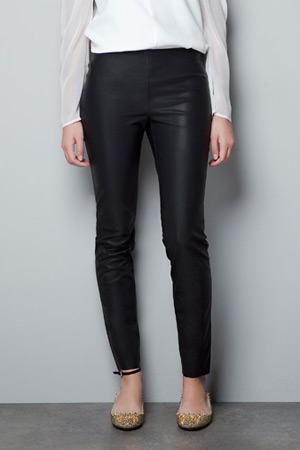 Forum buys - Zara leather effect legging