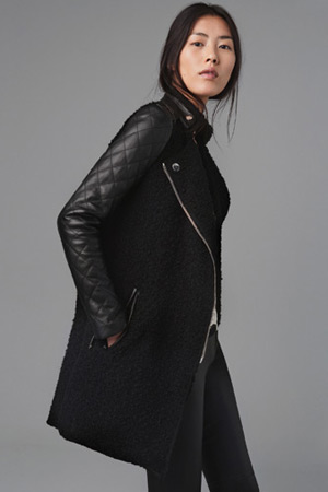 Forum buys - Zara leather sleeve coat