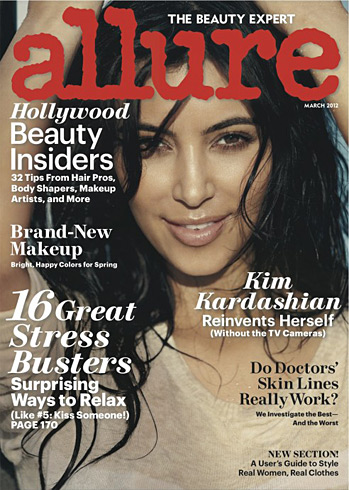 Kim Kardashian Allure March 2012 cover