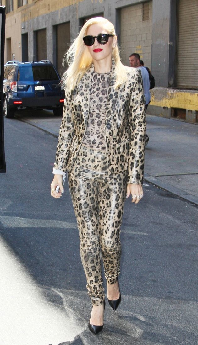Gwen Stefani arriving at a rehearsal studio New York City