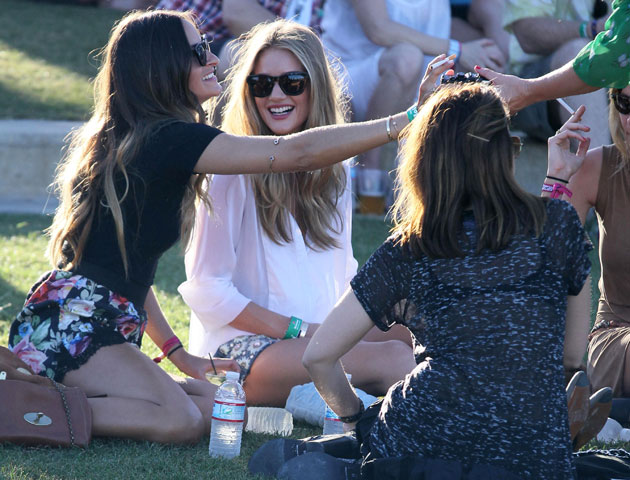 Rosie Huntington Whitely at Coachella 2012