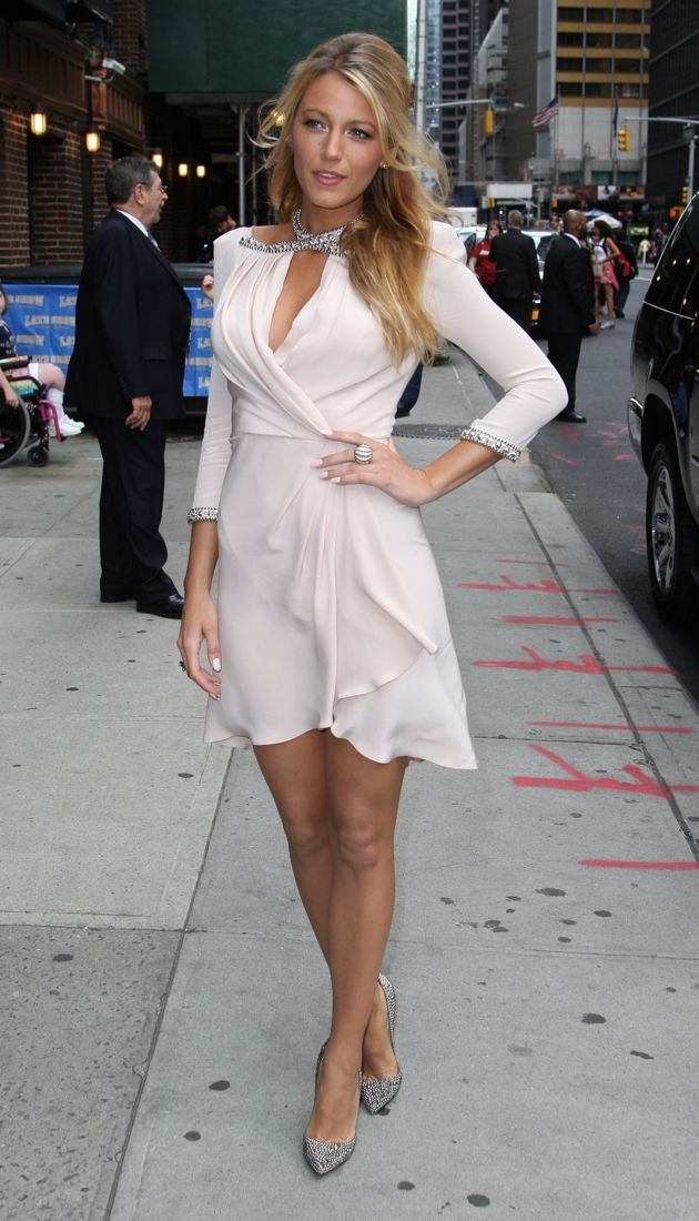Blake Lively The Late Show with David Letterman New York City