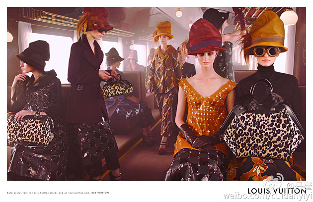 Louis Vuitton fall 2012 ad campaign photographed by Steven Meisel