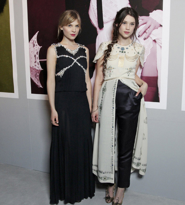 Clemence Poesy and Astrid Berges-Fribey in Chanel