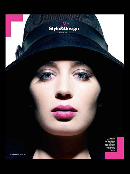 Time Style & Design cover - Emily Blunt