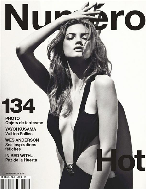 Numero June/July issue - Lindsey Wixson by Sebastian Kim