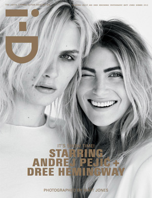 i-D Summer 2012 Cover - Andrej Pejic and Dree Hemingway