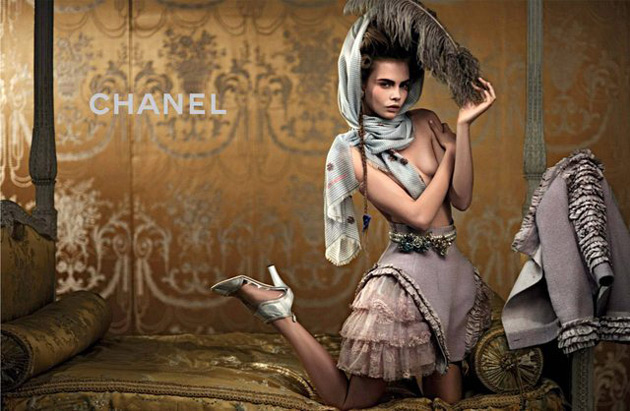 Chanel Cruise 2013 - Cara Delevingne photographed by Karl Lagerfeld