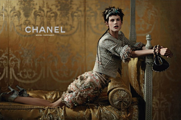Chanel Cruise 2013 - Saskia de Brauw photographed by Karl Lagerfeld