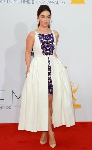 Emilia Clarke 64th Annual Primetime Emmy Awards Los Angeles Sept 2012