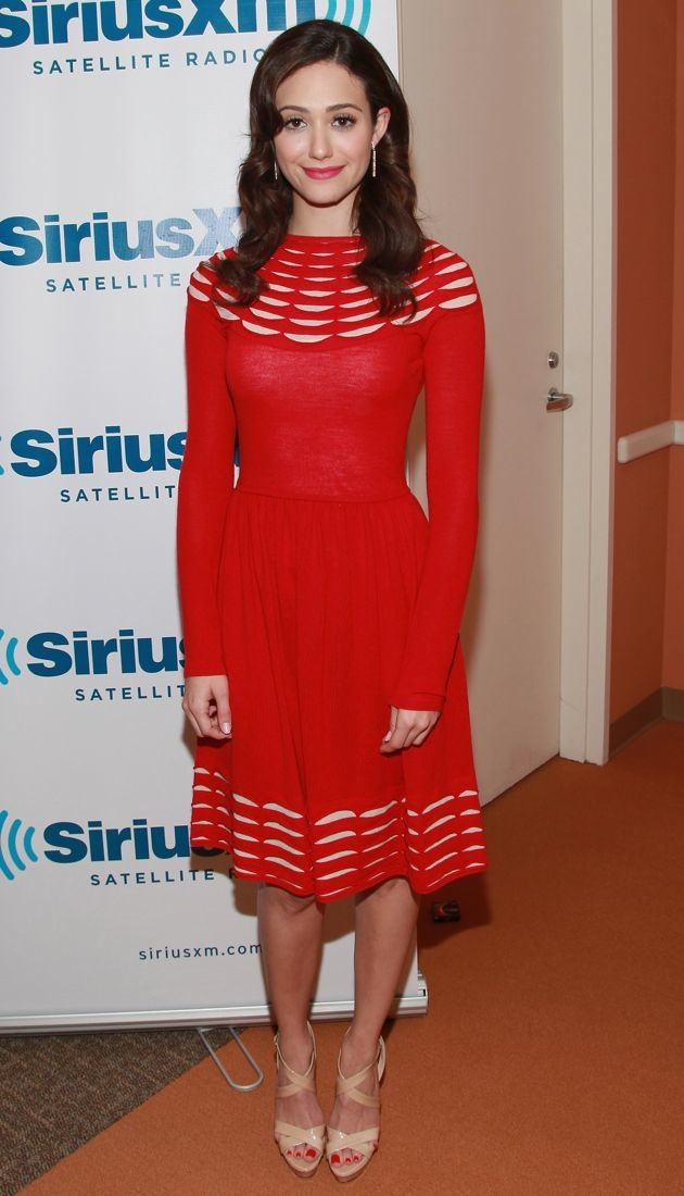 Emmy Rossum SiriusXM Studio 2012 New York Comic Con New York City