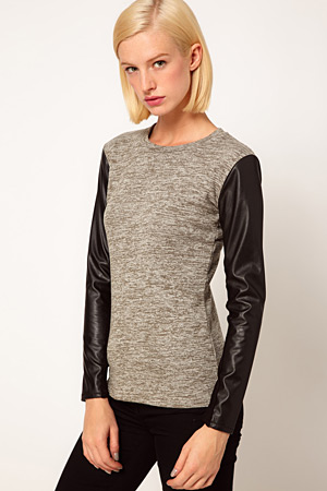forum buys - Asos leather look sleeve top