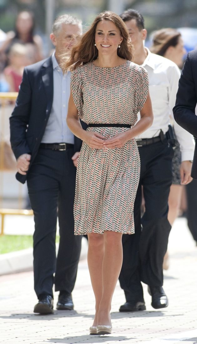 Catherine Duchess of Cambridge visits the Queenstown Community cultural event Singapore cropped