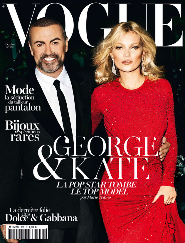 Vogue Paris October 2012 - George Michael and Kate Moss by Mario Testino