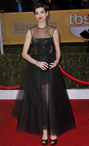 Anne Hathaway 19th Annual Screen Actors Guild Awards Los Angeles Jan 2013