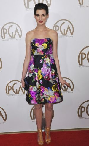 Anne Hathaway 24th Annual Producers Guild Awards Los Angeles Jan 2013