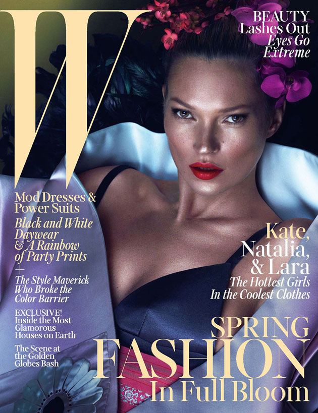 W March 2013 - Kate Moss photographed by Mert & Marcus