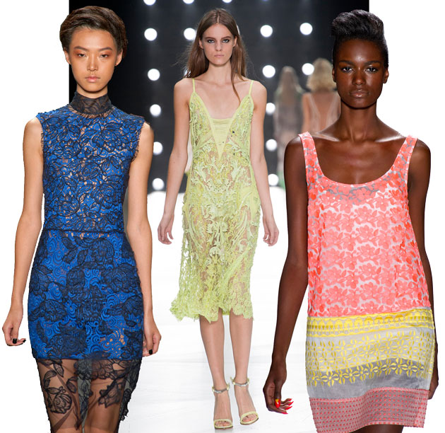 Lace trend - Vera Wang, Roberto Cavalli, Tracy Reese Spring RTW