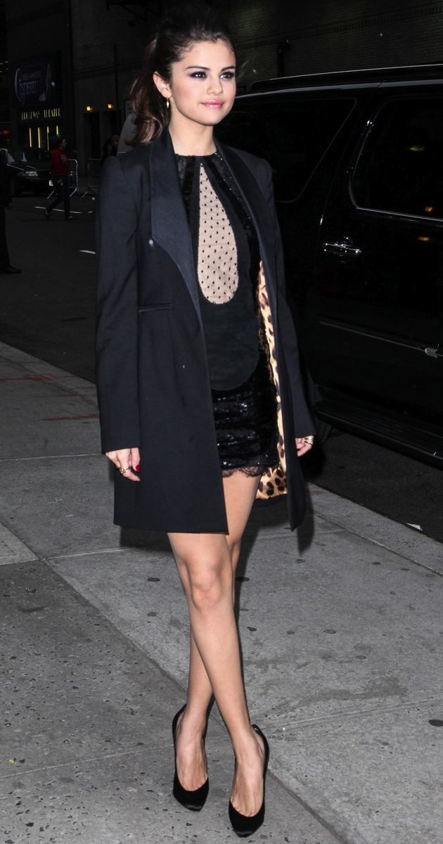 Selena Gomez Late Show with David Letterman New York City