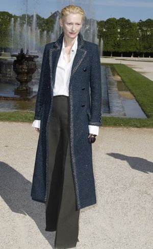 Tilda Swinton Chanel 2013 Cruise Collection Front Row Versailles France May 2012